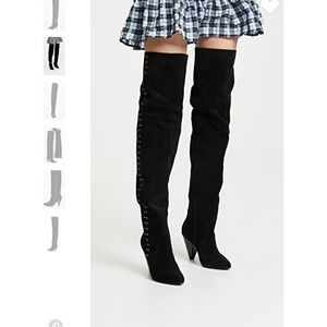 Joie Gallison Over the Knee Suede Boots NEW 36.5